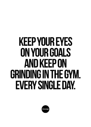 KEEP YOUR EYES ON YOUR GRIND