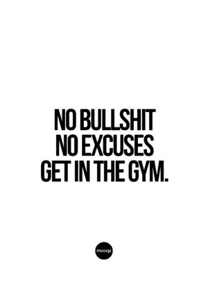 NO BULLSHIT NO EXCUSES