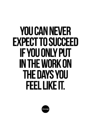 YOU CAN NEVER EXPECT TO SUCCEED