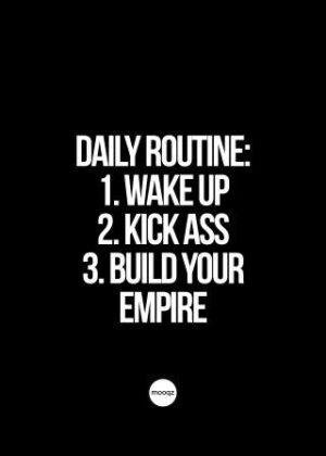 DAILY ROUTINE WAKE UP