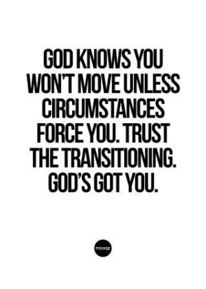 GOD KNOWS YOU WON'T MOVE